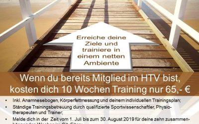 Sommeraktion! 10 Wochen Gerätetraining und Kurse für nur 99,- € Sichere dir deine Trainingswochen bis zum 30. August!