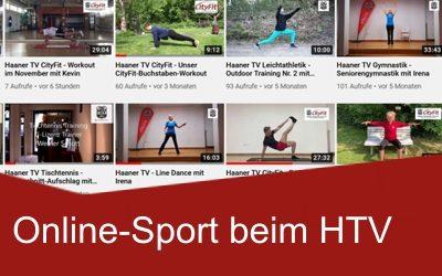 Unser Online-Sportprogramm Wir halten Euch auch zu Hause in Bewegung. Per YouTube und Zoom.